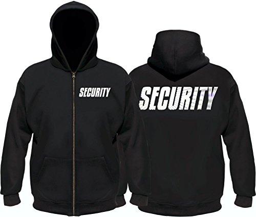 SECURITY - Sweatshirtjacke mit Kapuze - reflektierende Folie schwarz Gr.XXL