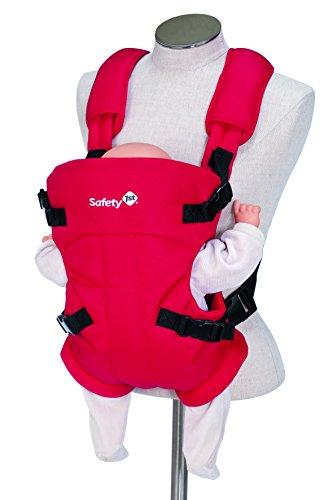 Safety 1st Mimoso Babybauchtrage, komfortabler Tragegurte, verstellbar und gepolstert, rot