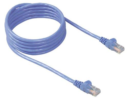 CAT5e Snagless Patch Cable, RJ45 Connectors, 3 ft., Blue (Snagless Cat5e Patch)