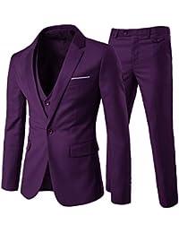 mode slim bouton à un fit formel homme uni couleur de Costume la d'affaire IyYbgf76v