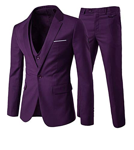e35b9fa9e537c Cloudstyle Traje Suit Hombre 3 Piezas Chaqueta Chaleco