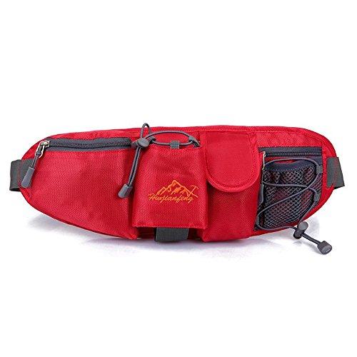 FFZH Viaggio all'aperto alpinismo borse impermeabili, bulk montagna tempo libero borsa uomo , pink red