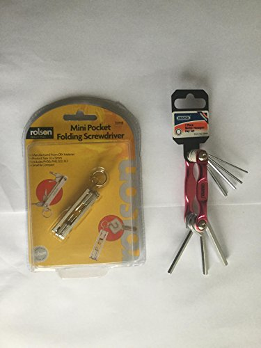 Preisvergleich Produktbild Rolson Mini Folding screwdriver- 4Stück, 7-teiliges Inbusschlüssel Set Bundle