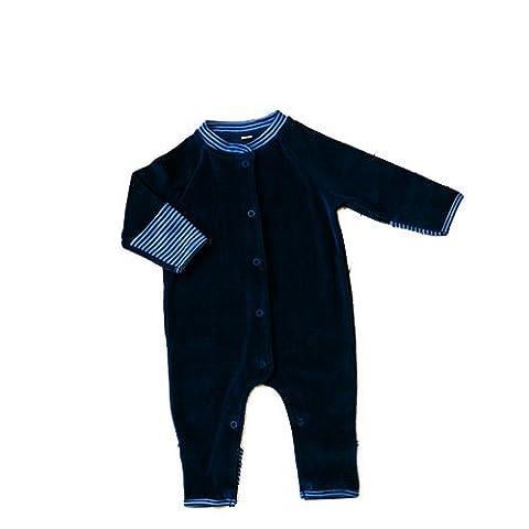 Leela Cotton Baby Nickyoverall ohne Fuss, petrol Gr. 62/68, reine Bio Baumwolle (Cotton Schlaf Kleidung)