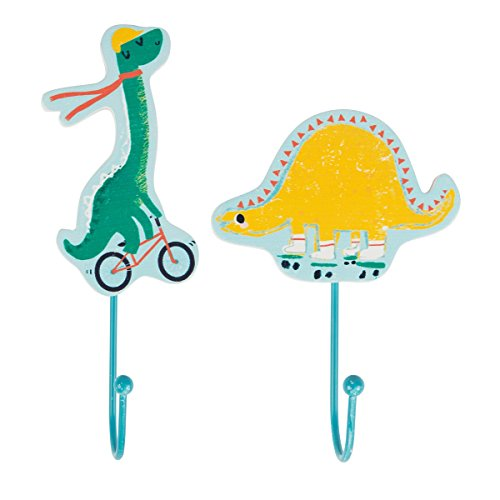 Kinder Dinosaurier Haken für Schlafzimmer oder Kinderzimmer Dekoration, Set von 2von Moden Handarbeiten -