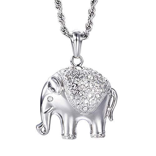ORKST Acero De Titanio Elephant Pendant Men's Necklace, para Los Que Les...