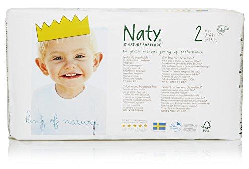Naty by Nature Babycare Ökowindeln - Größe 2 (3-6 Kg), 4er Pack (4 x 34 Stück)