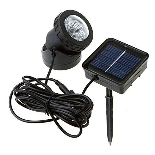 GEZICHTA Solarstrahler, LED Solar Power Licht Outdoor Landschaftsbeleuchtung Solarenergie Strahler Wasserdichte Tauchlampe Pool Teich Ausgezeichnete Beleuchtungskomponenten, warmweiß, Free Size