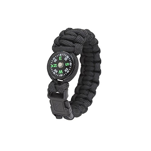 Copytec Paracord Kompass Survival Armband schwarz Größe M 8
