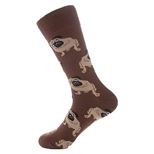 (Modaworld Bunte Herbsthundesocken der Männer in den beiläufigen Baumwollsocken des Rohres Baumwolle modischen Farben hergestellt höchste Qualität vielen Größen Socken)
