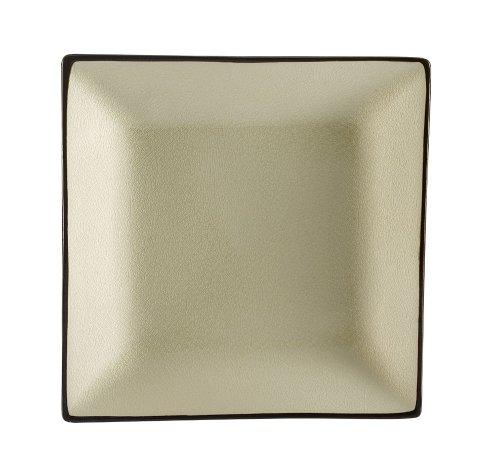 CAC China Quadratischer Teller im japanischen Stil 9-Inch(box of 24) Cremefarben/Weiß - Teller, Weiße Quadratische China