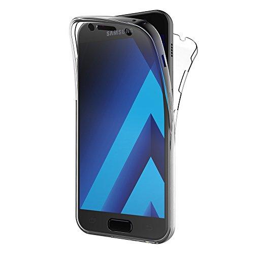 AICEK Samsung Galaxy A5 2017 Hülle, 360° Full Body Transparent Silikon Schutzhülle für Samsung A5 2017 Case Crystal Clear Durchsichtige TPU Bumper Galaxy A5 2017 Handyhülle (SM-A520F 5,2 Zoll)
