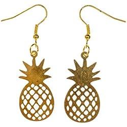 pendientes de piña Miniblings frutas exóticas frutas tropicales frutas de verano de oro