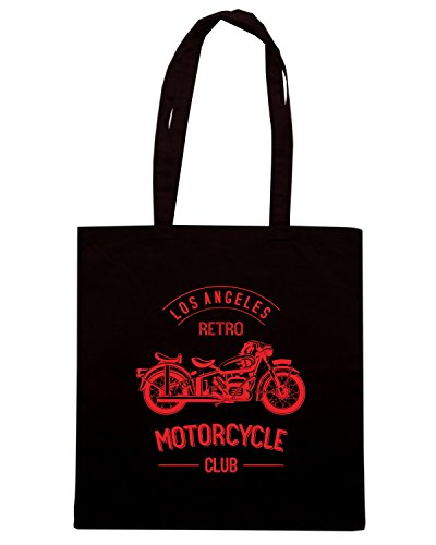 T-Shirtshock - Borsa Shopping TB0398 retro motorcycle club monochrome old bike Nero