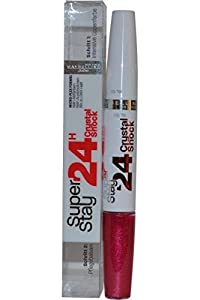 3 x Maybelline Superstay 24hr Crystal Shock Lipstick 570 Racey Ruby New & Sealed