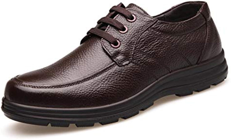 Shiney Men's Men's Men's scarpe Soft Bottom Casual Leather First Layer Pelle Bovina Business Sport Carriera negli Uffici   Liquidazione    Uomo/Donne Scarpa  3f4563