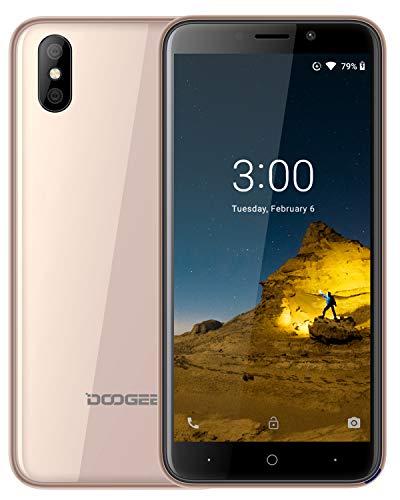 DOOGEE X50 Dual SIM 3G Smartphone ohne Vertrag Günstig - 5,0 Zoll, (Android GO) Android 8,1 Handy Ohne Vertrag 1GB RAM 8GB ROM, 2000mAh, Dual 5.0MP Rückfahrkamera, Gesichtserkennung ID, Gold