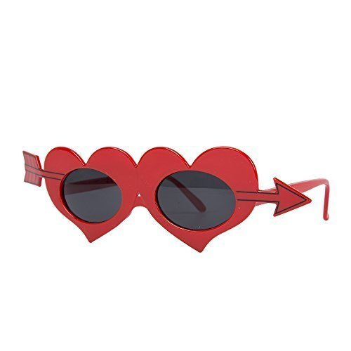 Neuheit Rot Liebe Herz Valentins Amor Kostüm Brille (Amor Kostüm Zubehör)