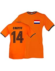 Johan Cruyff Holland Ringer Tee (orange)