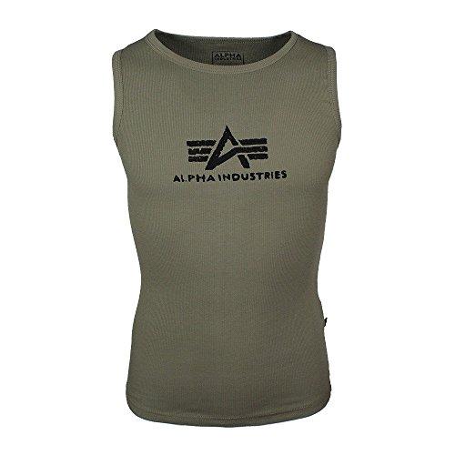 Alpha Industries Logo Tank Tank Top Olive/Black, G -