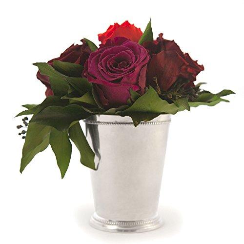 Composition Bouquet Fleurs Stabilisées 6 Roses Rouges Conservées Durée 3 ans