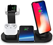 4 in 1 Wireless Charging Stand for iphone and Android Phones, Apple Watch and Airpods