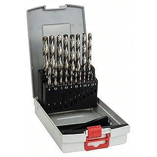 Bosch 2608587013 HSS-G Metal Drill Bit Cassettes, Silver, 19-Piece