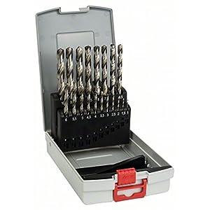 Bosch 2 608 587 013 – Set de 19 brocas para metal ProBox HSS-G, DIN 338, 135° – 1-10 mm (pack de 19)