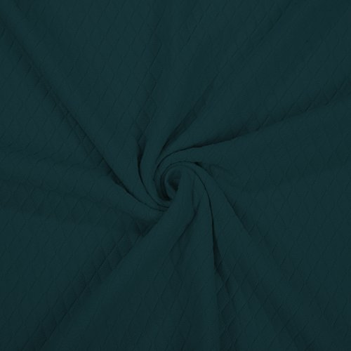 Baumwolle Gefühl Diamond Quilt Stoff Knit Jersey Neotrims Double Layer Material. Baby Fotografie Bekleidung & Craft Dekoration. Harlequin Stitch Muster, isolierend, Futter Eigentum, Textil, Teal Petrol, 1 m (Jersey Stitch-pullover)