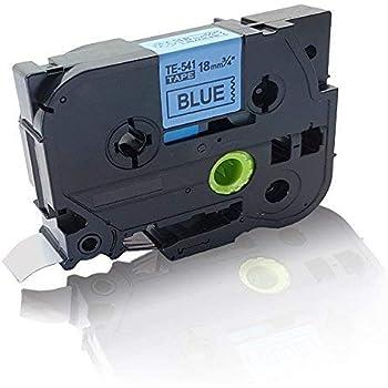 Drucker Pro Serie 5x Kompatible Schriftbänder für Brother TZE233 Blau-Weiß 12mm