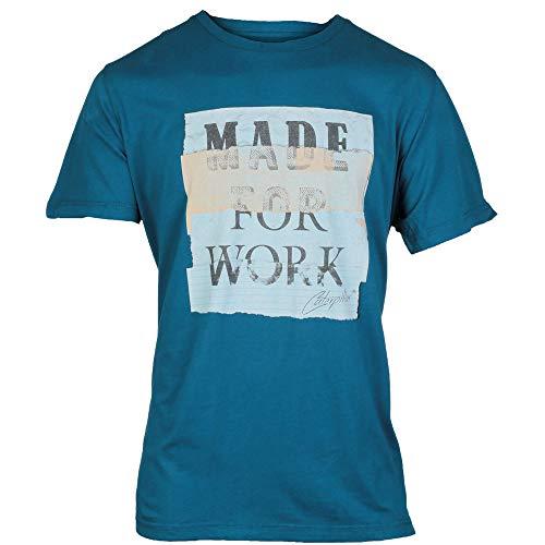 Caterpillar CAT Tabloid T-Shirt Blue Blue - XL -