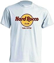 Mister Patch - Hard Rock T-Shirt Parodia - Divertente Hard Rocco - Personalizzata con la Tua Città - 100% Coto