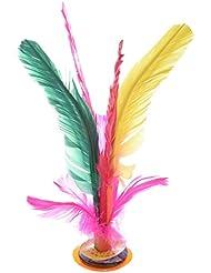 TOOGOO(R) Sports de plein air Jeu de volant Jianzi chinois avec Plumes de 4 couleurs
