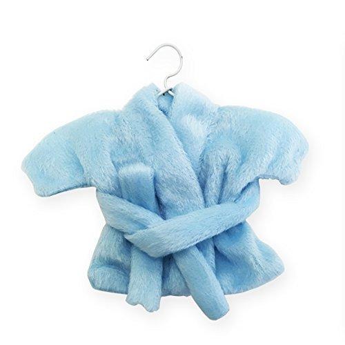 Irpot - 12 accappatoi peluche sacchettini portaconfetti azzurri po2129