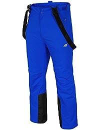4F Snowboard Pantalones Pantalones de esquí invierno Tirantes-Pantalón Señor Dwr impregnación X20361-X6V Invierno pista Aquatech 5000-spmn001sw16(Azul Oscuro)