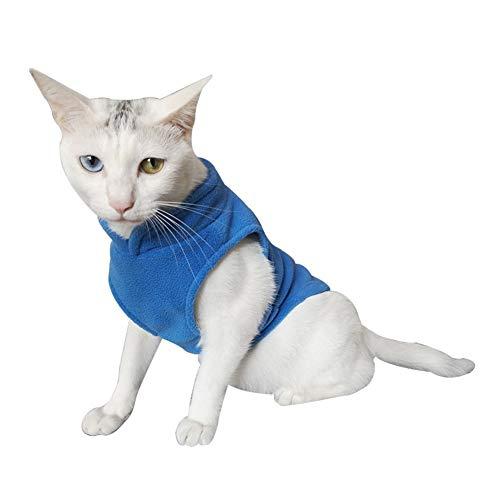Bluelucon Stricken Hund Hoodie Pullover Haustier Katze Welpen Mantel Kleine Haustier Hund warme Kostüm Bekleidung Hundejacke mit Kapuze, Rosa, Wintermantel/Winterjacke (Kleines Haustier Kostüm)