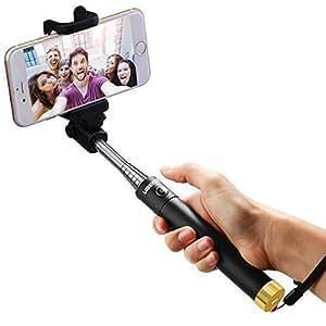 Bastone Selfie , Ubegood Selfie Stick Monopiede Bluetooth Universale e controllo Wireless con Asta Estendibile Compatibile con Smartphone di sistema iOS e Android. (Dorato)