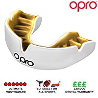 Opro Power-Fit | Adult Sports Mouthguard | Gum Shield for Rugby, Hockey, Lacrosse, Boxing, and Other Contact And Combat Sports Ages 10+ | 18 Month Dental Warranty