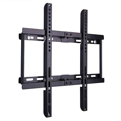 BPS Ultra Slim TV Wall Bracket Wall Mount for 23-55 inch Samsung LG Sony Sharp LED LCD Plasma Full HD 1080p 3D 4K Smart TV Max VESA 400x400, Capacity 95kg(209 lbs), Spirit level included