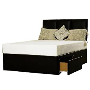 Hf4you 5ft Kingsize Black Divan Bed Base No Storage No Headboard