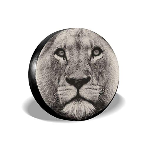 Vbnbvn Reserveradabdeckung, Sketch Fun Lion Potable Polyester Universal Spare Wheel Tire Cover Wheel Covers Jeep Trailer RV SUV Truck Camper Travel Trailer Accessories 16 in -