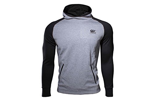 Vaposhield Hooded Rugby Sweat - Graphite Marl/Jet Black - size L (Rugby Custom Mesh Fit)