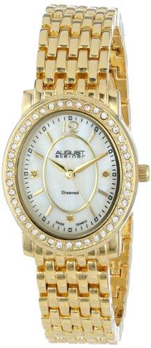 August steiner Damen-Armbanduhr Dazzling Diamond Analog Quarz AS8043YG