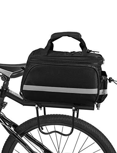 Lixada Fahrradtaschen Gepäckträger Wasserdicht Sitz Multifunktionale Tasche MTB Rennrad Rack Carrier 13L / 25L(Optional) (25L-Schwarz)