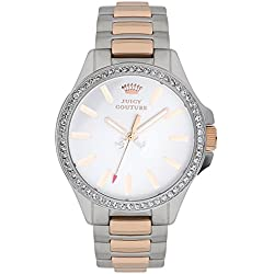 Juicy Couture Jetsetter Women's Quartz Watch with Silver Dial Analogue Display and Silver Stainless Steel Bracelet 1901024