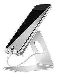 Handy Ständer, Lamicall Handy Halterung : Handyhalterung, Halter für Phone 11 Pro, Xs Max, Xs, XR, X, 8, 7, 6 Plus, SE, 5, Samsung S10 S9 S8 S7 S6 S5, Huawei, Schreibtisch, andere Smartphone - Silber