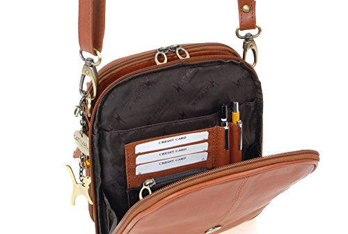 Handbags Pelle in Marrone organiser chiaro tascapane Collection Metro Borse Catwalk HW6fFOH