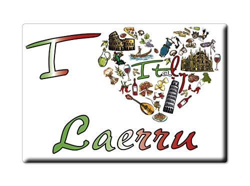 Enjoymagnets LAERRU Souvenir Sardegna (SS) KÜHLSCHRANK Magnet Fridge ICH Liebe Gift I Love (VAR. Symbol) - Ss-side-by-side Kühlschrank