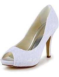 ElegantPark AW Mujer Flores zapatos de boda de Accesorios Desmontable zapato Clips Oro 2 Pcs ppVtCTR