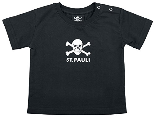 Schwarz Babyshirt (FC St. Pauli Totenkopf Baby-Shirt schwarz 68)